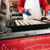 This is how Dutch poffertjes are made - I found it at a local outdoor market