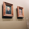 Van Gogh drew a lot of self portraits - this is a self portrait of himself (left) and a portrait of his brother (right)