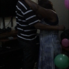 The first dance of the night is between my dona and the birthday boy, my dono