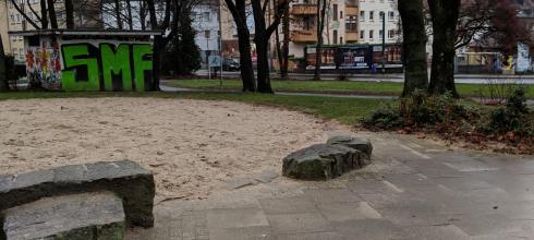 The park near my house after a rainy day