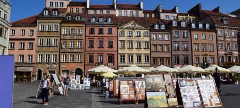Old market square in Warsaw