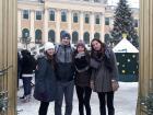 Schoeenborn Christmas market with my sister Tania, her boyfriend Juraj, and her friend Janka