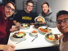"It's become our tradition to make dinner together every Monday night. This week we made our version of the Korean ""Bibimbap""!"