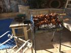 Anna loves souvla (grilled meat), and I got to eat it at her house!