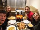 "Also grateful for my Fulbright English Teaching Assistant ""family"" at Friendsgiving"