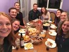 For Thanksgiving, some other Americans and I got together to have a dinner American style