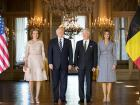 President Donald Trump visited the Belgian Royals in 2017