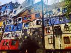 The Hundertwasserhaus is very interesting and colorful