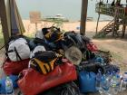 This is all the gear we are taking with us as we paddle down the Mekong