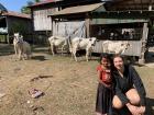 There were a lot of children and farm animals for us to meet in this village