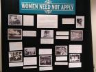 A poster board from the conference