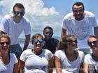 At sea with the volunteer team in Madagascar