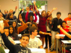 The kids of Go American English, where I volunteer - this picture was taken before I joined