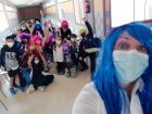 All of the students wore wigs for Día de la Peluca