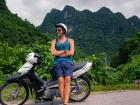 Using a motorcycle to explore the mountains and caves of Phong Nga Ke Bang in Vietnam