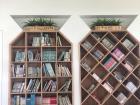 Pineapple-themed bookshelves