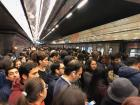The Santiago metro at rush hour is crazy!