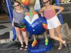 My friend, Mallory, and I posing next to a gigantic dodo bird! Did you know that dodo birds only lived on Mauritius?