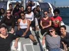 Our boat journey on the coast of Cape Town