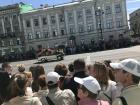 A parade in St. Petersburg for Russia day