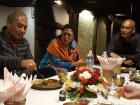 """This meal is called """"Dhal baat"""" and was prepared by our new friends in Kathmandu"""