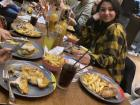 My first time trying Nando's buffet restaurant, with a table full of cousins who wouldn't take the photo with me because Nando's comes first