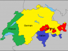 Switzerland has 26 different cantons, with four official language regions